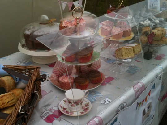 Cakes on sale at Haguelands