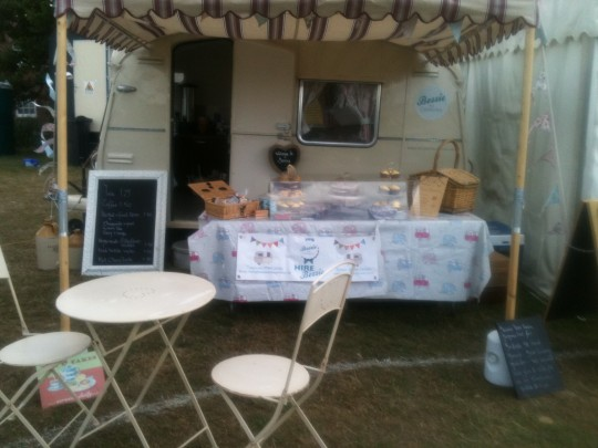 Bessie is all set up ready for the fun to begin