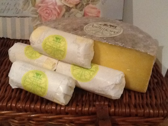 Some of my ingredients used at the British Family Fayre. Ashmore Cheese and butter from Dargate