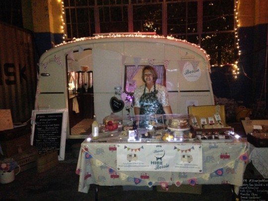 Bessie twinkles at night at the European Street Food Awards