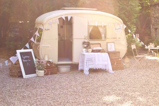 Bessie is all set up and waiting for the guests to arrive