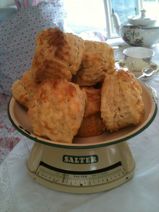 Hundreds of Cheese Scones made - Kentish Ashmore Cheese and Cheesemakers of Canterbury own butter - honestly it's heavenly