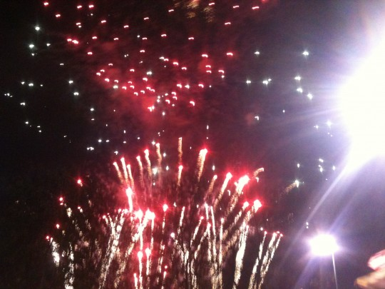 Wow - these were the most amazing fireworks, just unbelievable.  Great artists too, including Conor Maynard
