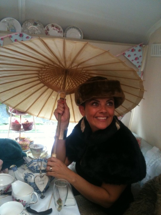 Looking beautiful with Bessie props