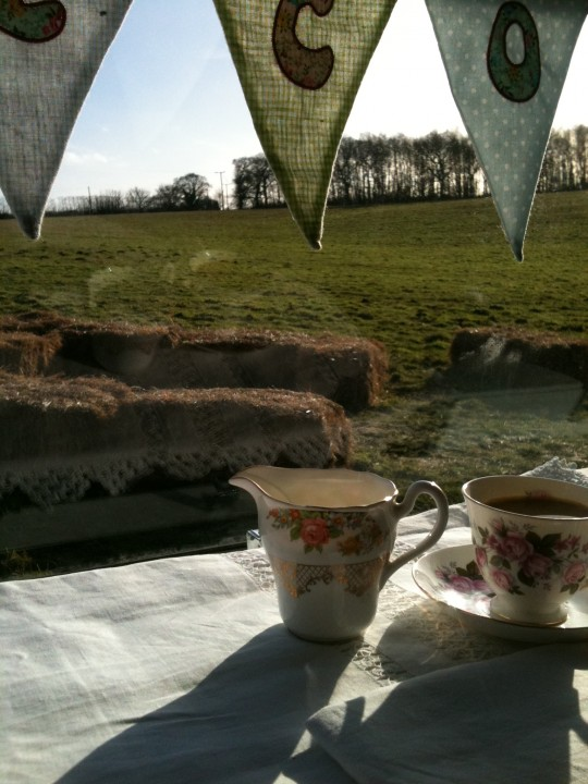 A perfect day for tea with Bessie