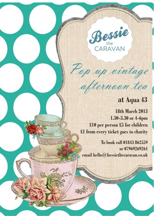 A vintage tea party held at Aqua 43 Broadstairs a stylish buzz in town