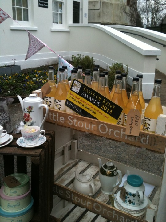 Little Stour Orchard apple juice was popular at the Broadstairs Food Festival - serving lovely hot spiced apple and sold by the bottle