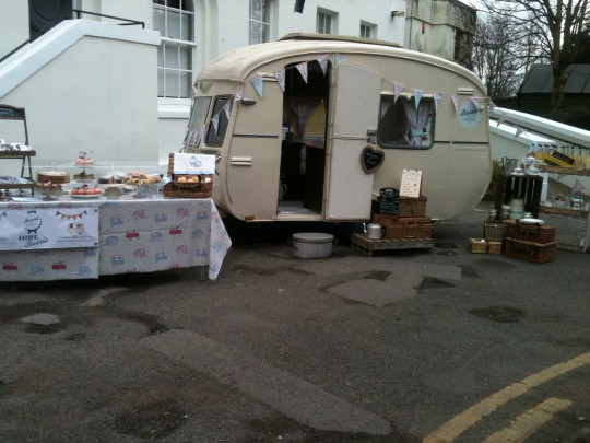 Bessie is all ready at the first ever Broadstairs Spring Food Festival. Snowy weekend didn't stop the crowds arriving