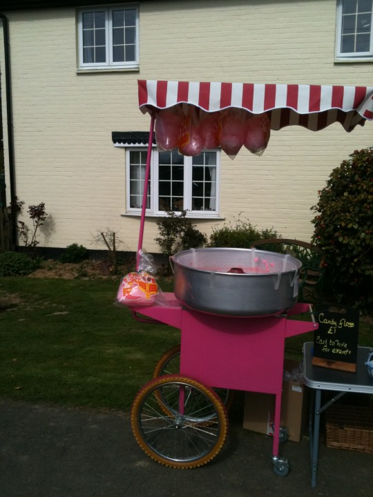 The candy floss cart gets an outing supporting the Lord Whisky Animal Sanctuary Spring Fair