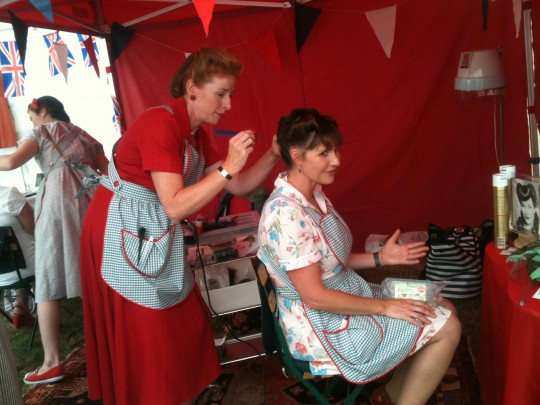 It was great to see everyone going around with their vintage styled hair and make up