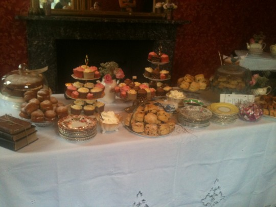 Cupcakes, scones with clotted cream and jam, victoria sandwich and lemon drizzle awaits the wedding party