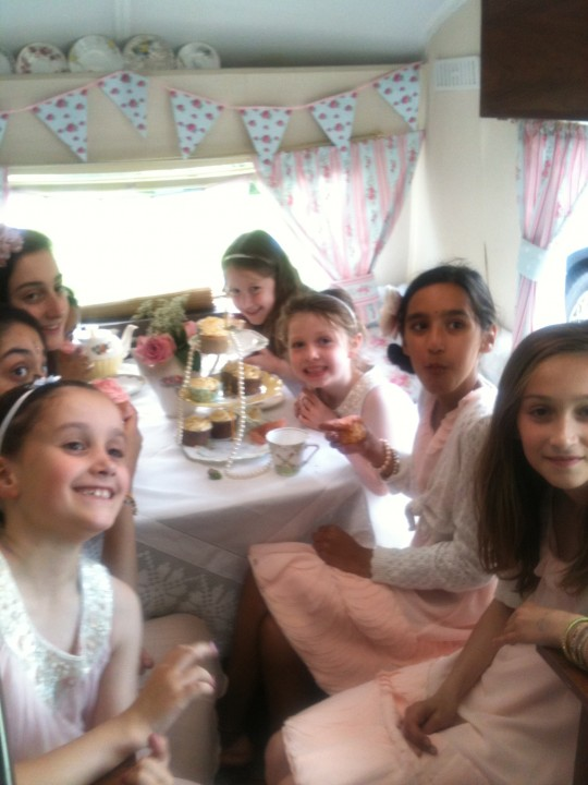 The Bridesmaids and rest of the children at the wedding had great fun trying the props on in Bessie
