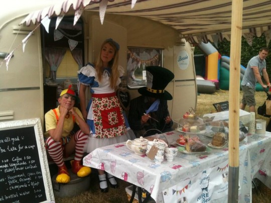 Alice in Wonderland visits Bessie - that Mad Hatter is very naughty