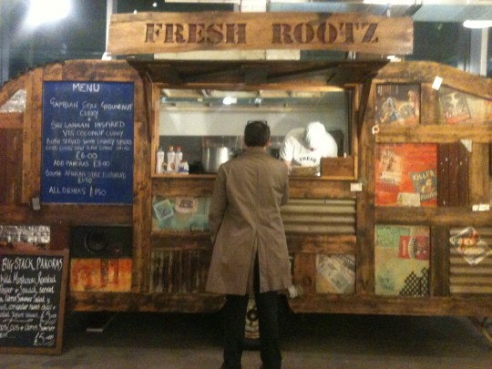 The food from these guys at Fresh Rootz was just amazing and kept me going - thank you lovely people