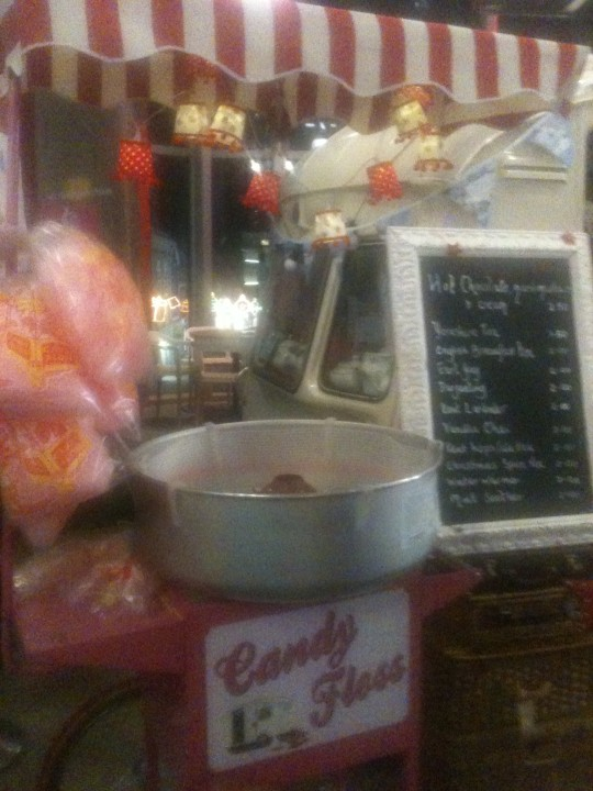 The Candy Floss cart was popular at the weekends