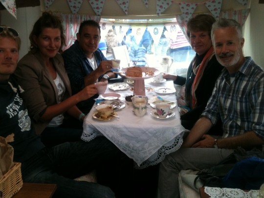 Bessie hosts a mini birthday party for these lovely guests at the Festival