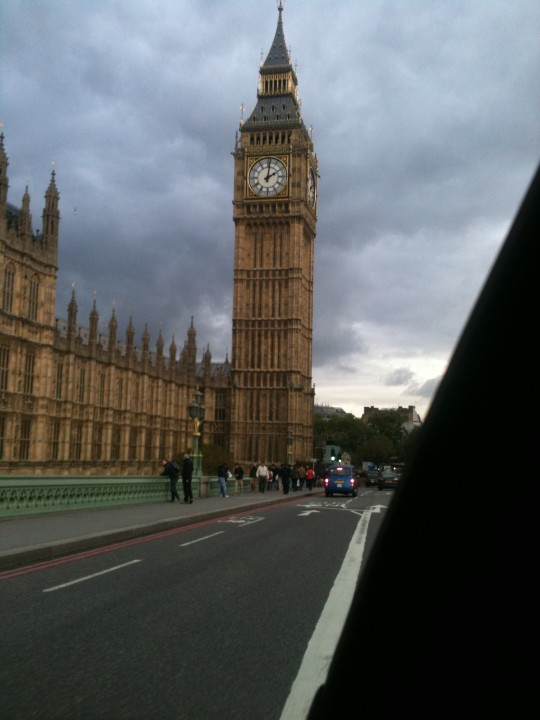 Twice passed Big Ben, twice up the Mall - just a few of our sight seeing moments