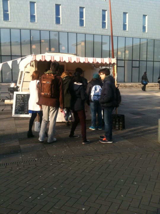 Bessie enjoyed a sunny day at Kent University as part of the Vintage Fair - they love cake!