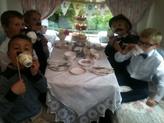 Bessie is always a hit with the young wedding guests